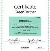 Certificate Green Partner