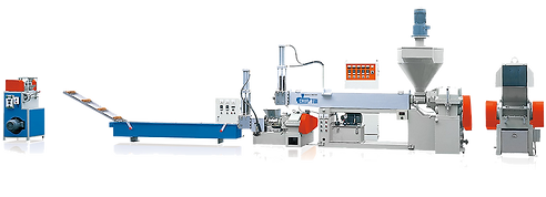 2 Stages Plastic Recycling Machine (Force Feeding and Dual Degassing)