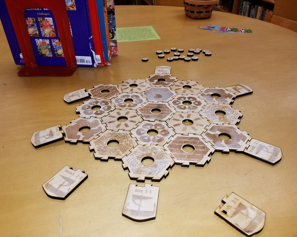 Lasercut Settler's of Catan Game Board