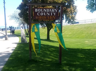 Boundary County Library banners