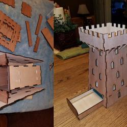 Lasercut Dice Tower by Owen Plato