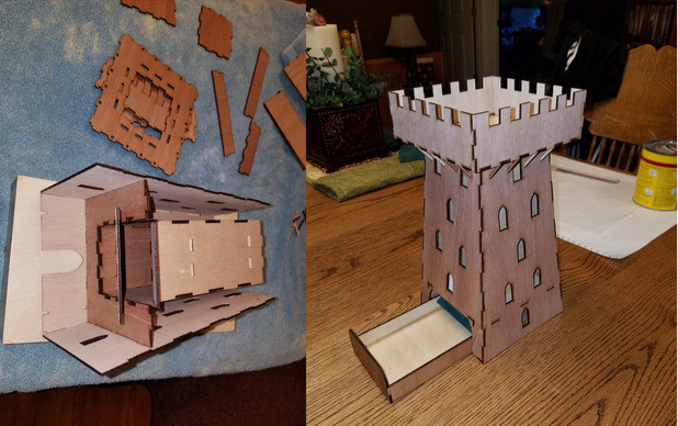 Lasercut Dice Tower by Owen Plato