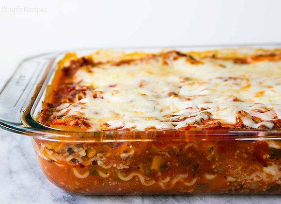 Single Portion Homemade Lasagna
