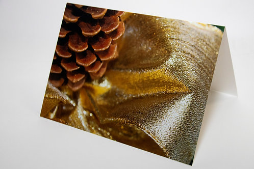 Pinecone Holiday Card