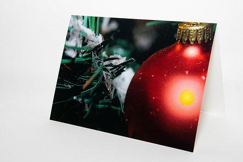 Christmas Tree Bulb Card