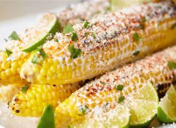 Butter & Tajin Rubbed Corn on the Cob (serves 4)