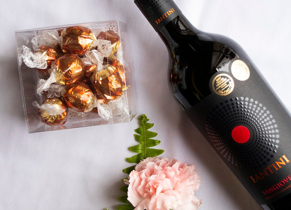 Send it all-o-gram: Chocolates, Bottle of Wine, 10 carnations