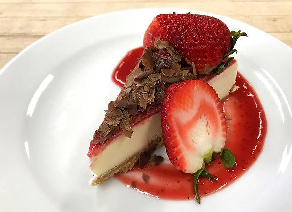 Strawberry & Dark Chocolate Cheesecake Slices
