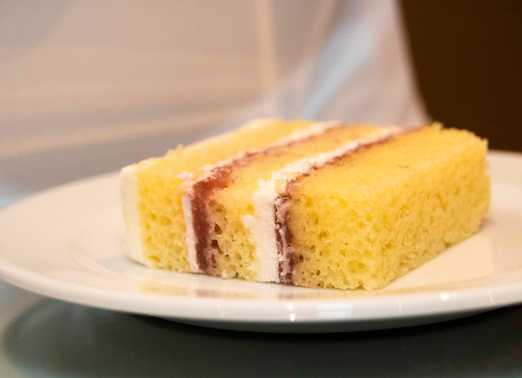 Lemon Shortcake Slice