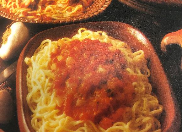 Spaghetti alla Napoletana with salad & bread