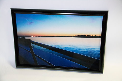 Blue View Framed Print