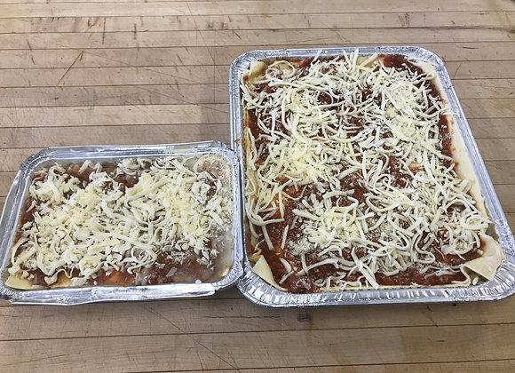 Frozen Homemade Meat Lasagna