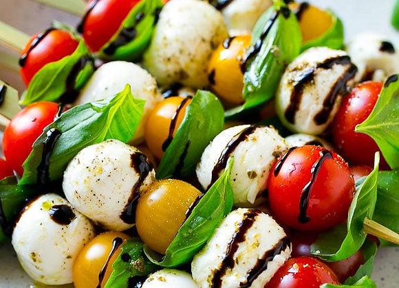 Canapes Tray (Arancini, Tomato & Bocconcini Skewer & Italian Spicy Meatballs)