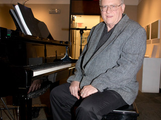 Retired weatherman, now the piano man