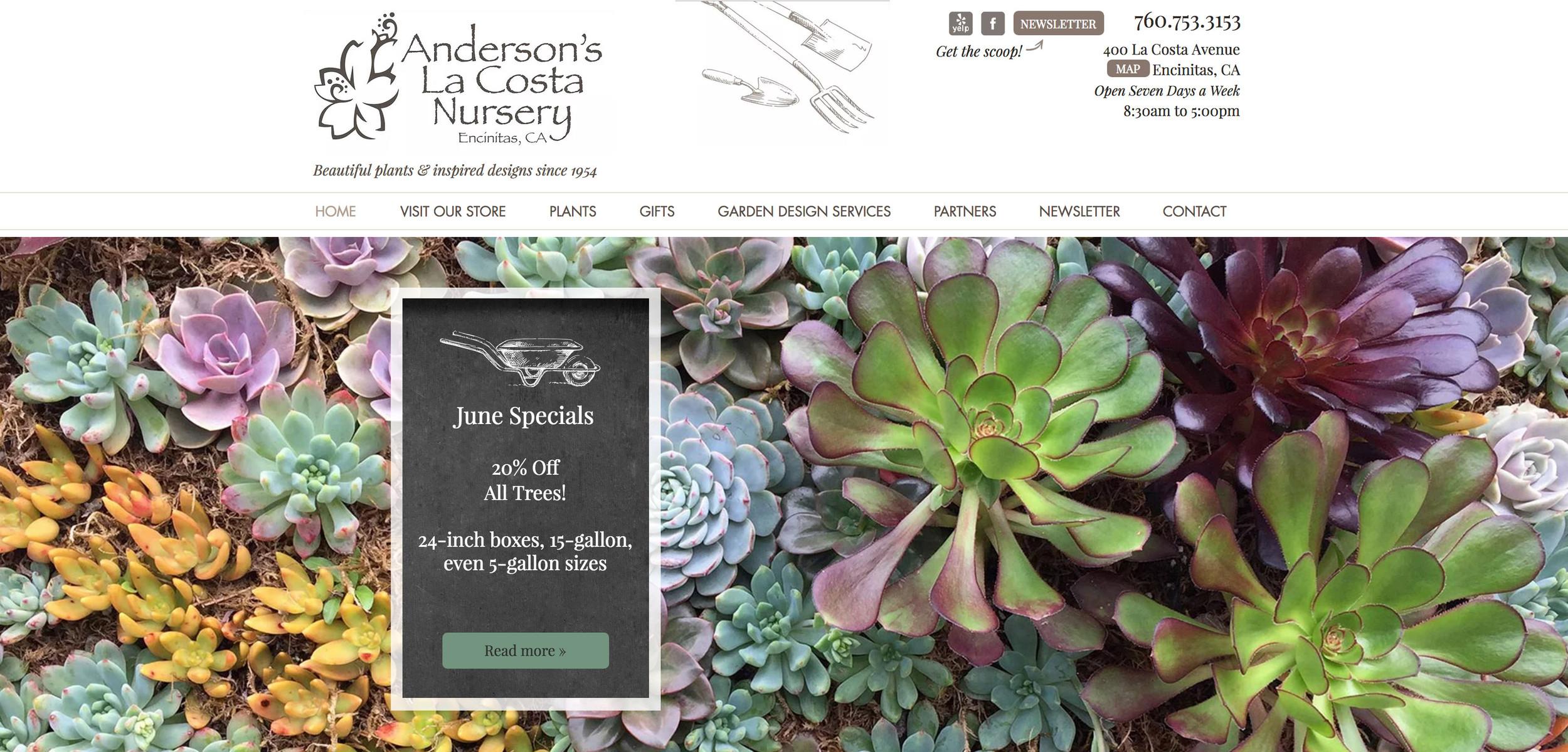 Anderson's La Costa Nursery | Encinitas, California