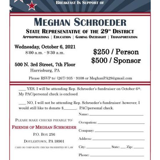Rep. Meghan Schroeder's Breakfast