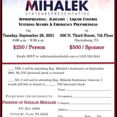 Rep. Natalie Mihalek's Breakfast