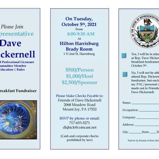 Rep. David Hickernell's Breakfast