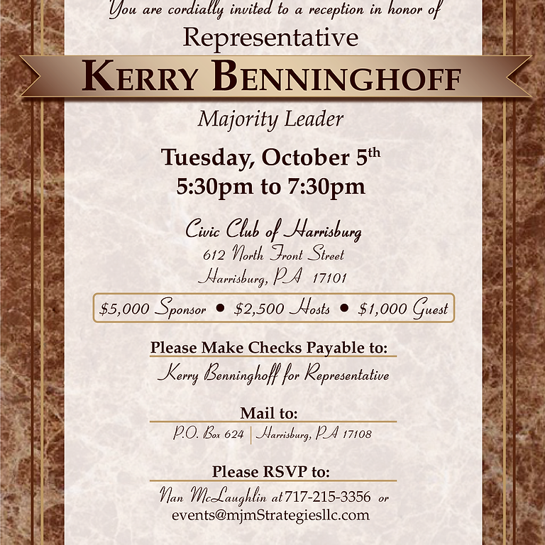 Majority Leader Kerry Benninghoff's Reception