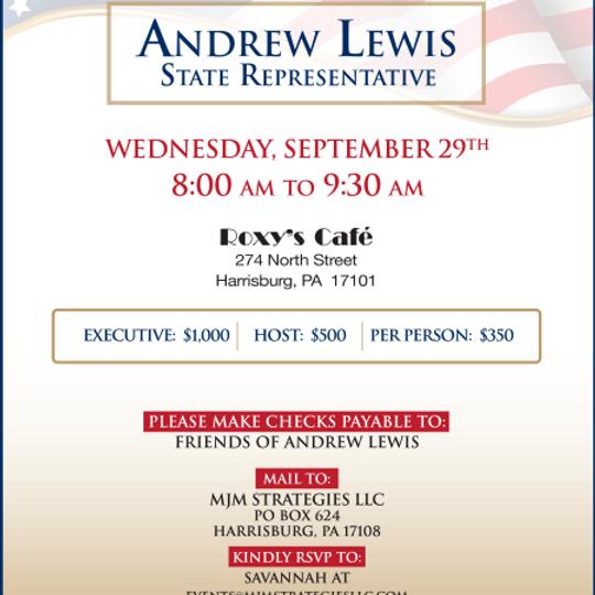 Rep. Andrew Lewis' Breakfast