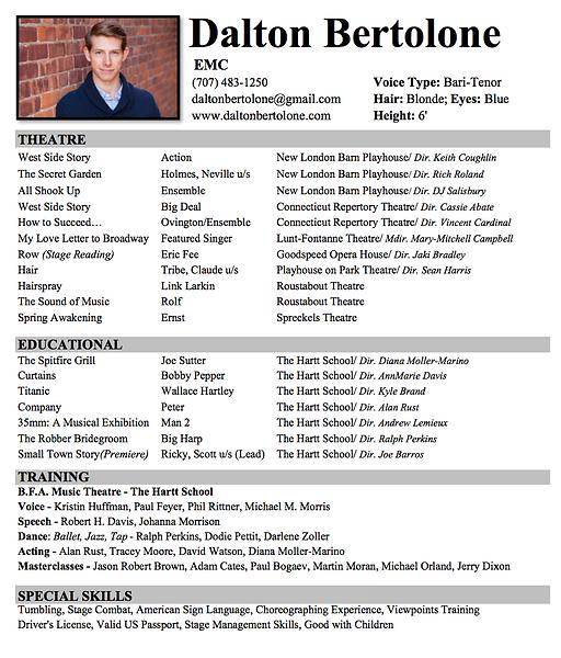 Singer Resume] Singer Resume Template 8 Acting Resumes Free Sample ...