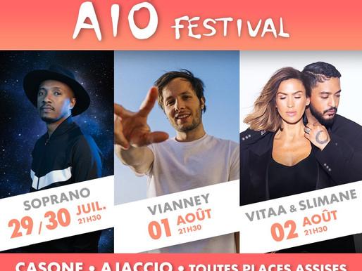 DU 29/07 AU 02/08 - AIO FESTIVAL AU CASONE D'AJACCIO