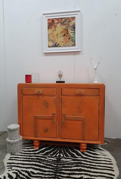 Rafaella Orange Distressed Sideboard