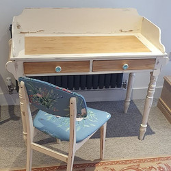 Vanity Unit & Reupholstered Chair