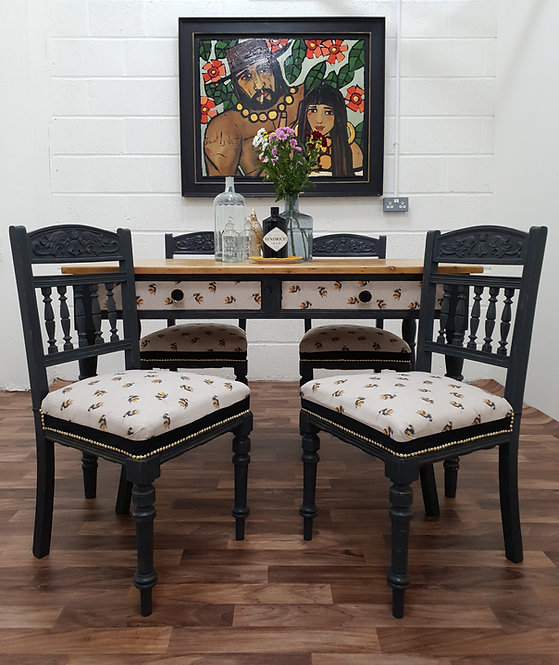 Queenie Victorian Table and Four French chairs