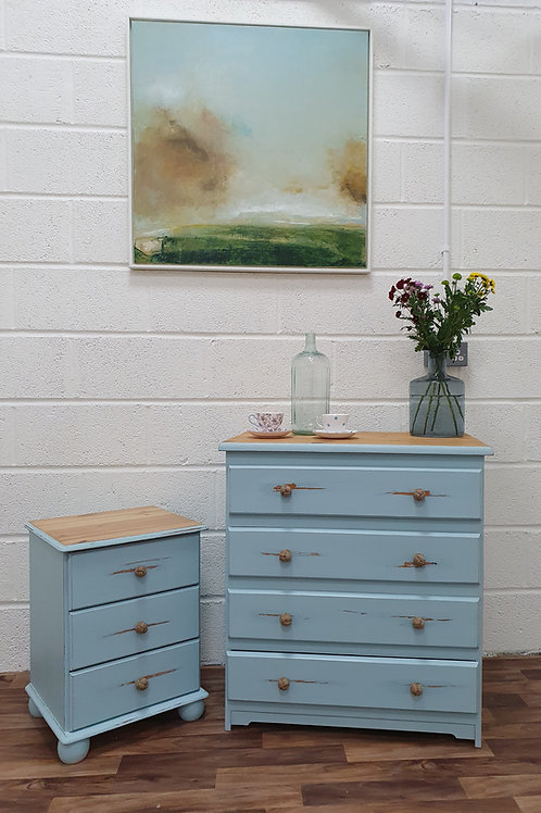 Elean & Eleanor Chest of Drawers and Bedside Table Set