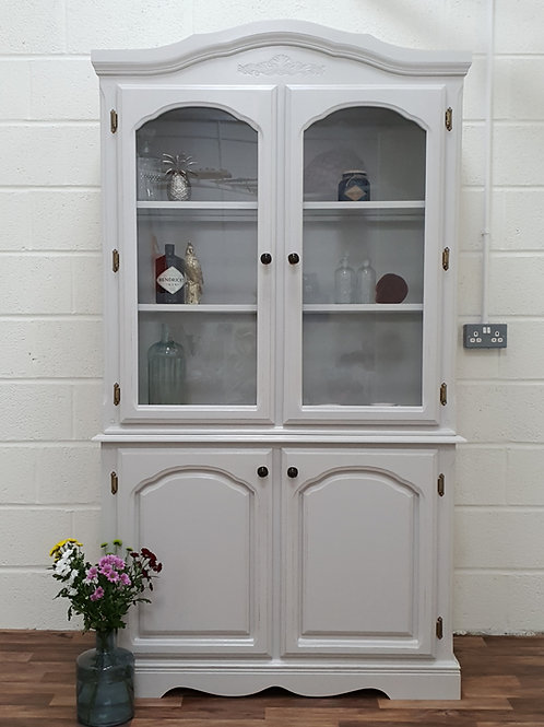 Clarence Grey Glass Dresser