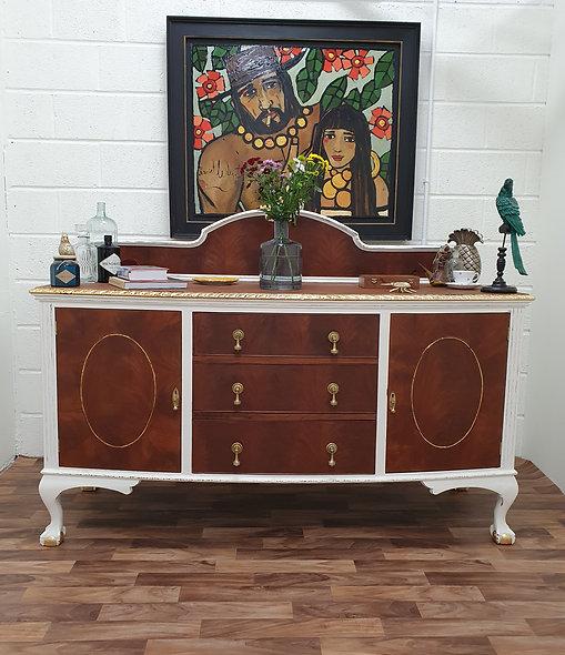 Aurelia (Circa 1920) Antique Victorian Solid Mahogany Sideboard