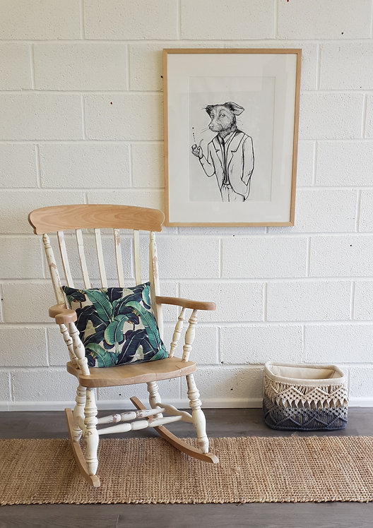 Wilma Solid Wood Rocking Chair