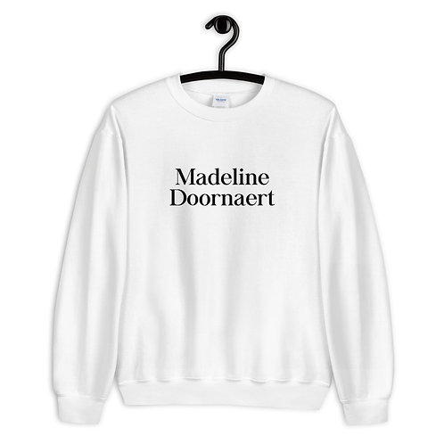 Madeline Doornaert (#006) - White Unisex Sweatshirt