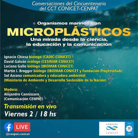 Organismos marinos con MICROPLÁSTICOS
