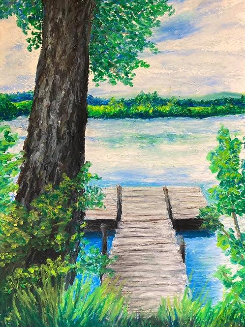 BERKSHIRE MEMORIES Back of the Lake
