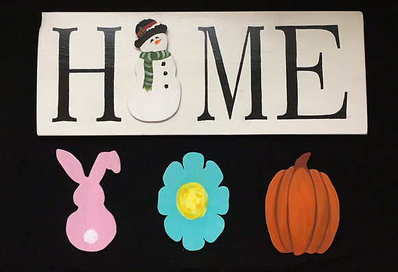 Foru Seasons Board with Wooden Cut Outs