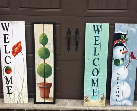 Porch Welcome Board Sign Boards