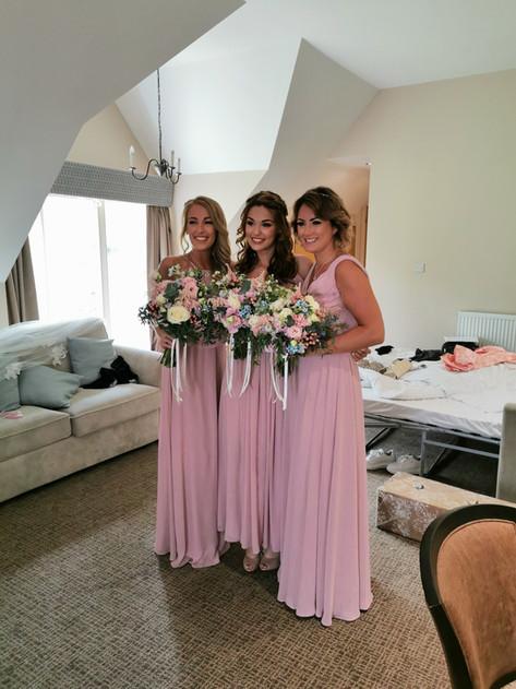 Bridesmaids hair and makeup
