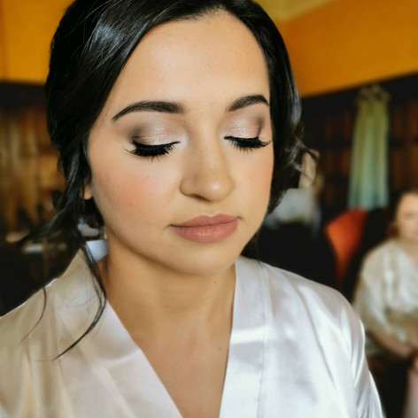 wedding day makeup for lovely Mel