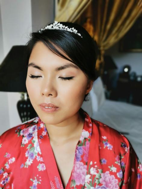 Wedding day makeup