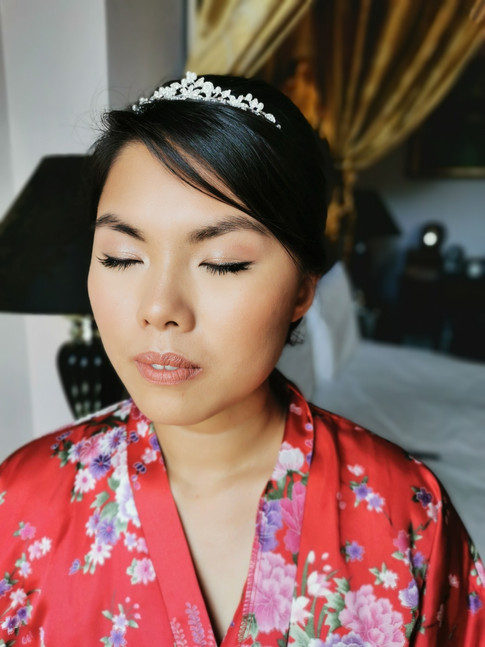 Wedding day makeup