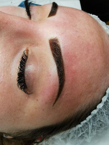 powder brows, semi permanent eyebrows