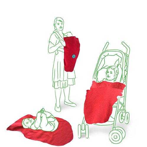 KUNICAPE, Kinderwagendecke, Fahrradsitz Decke, Fusssack Fahrradsitz, Babyschale Decke, Einschlagdecke