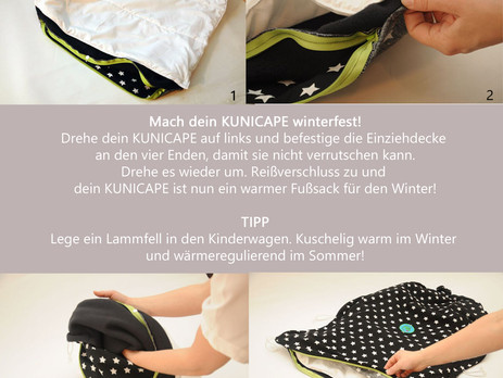 KUNICAPE Anleitung - Die Einziehdecke für ein winterfestes KUNICAPE.