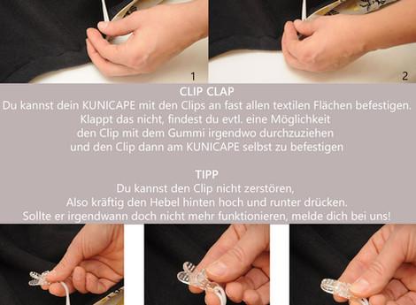 KUNICAPE  Anleitung - Wie die Clips funktionieren