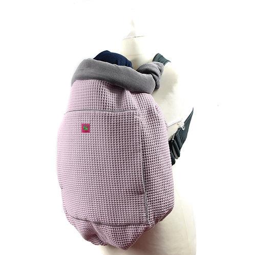 Kunicape,tragecover,cover,Wetterschutz,babytrage,rosa,rose,grau,waffelmusterr