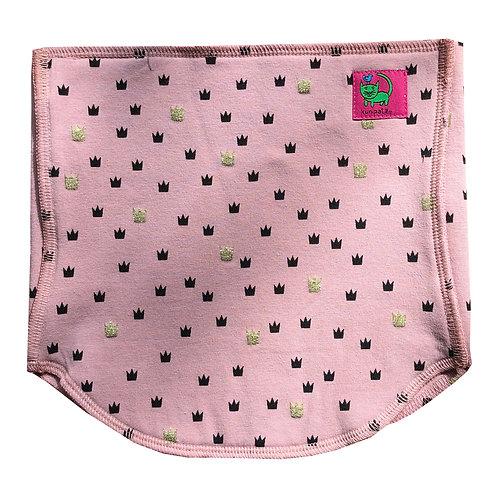 KUNIBELLY ♥ Bio Bauch- und Nierenwärmer für Kinder ♥ Krone rosa