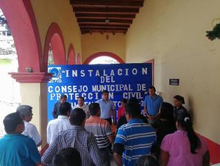 Toma de protesta del Consejo Municipal de Protección Civil.