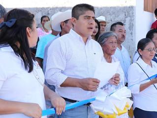 Entrega alcalde de Zozocolco de Hidalgo, primeras obras del año 2019.